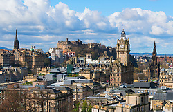 Skyline of city of Edinburgh from Calton Hill ,Scotland, United Kingdom
