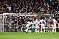 "Real Madrid Sergio Ramos, Pepe, Francisco Roman ""Isco"" and James Rodriguez during La Liga match between Real Madrid and Deportivo de la Coruña at Santiago Bernabeu Stadium in Madrid, Spain. December 10, 2016. (ALTERPHOTOS/BorjaB.Hojas)"