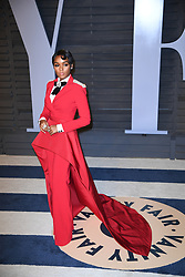 Belvedere Ambassador Janelle Monae attending the 2018 Vanity Fair Oscar Party hosted by Radhika Jones at Wallis Annenberg Center for the Performing Arts on March 4, 2018 in Beverly Hills, Los angeles, CA, USA. Photo by DN Photography/ABACAPRESS.COM