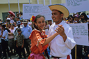 """Tela: """"Fiesta popular"""" after a meeting of workers of banana industry."""