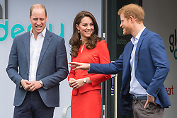File photo dated 20/4/2017 of the Duke and Duchess of Cambridge and Prince Harry depart after a visit to open the Global Academy in Hayes, London, in support of the Heads Together campaign. The Cambridges have faced personal challenges over the past year, dealing with the fallout from Megxit and the Sussexes' bombshell Oprah interview. Issue date: Wednesday April 28, 2021.