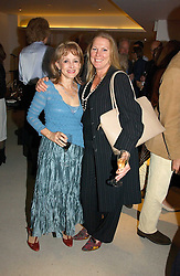 Left to right, Yachtswoman CLARE FRANCIS and VISCOUNTESS GORMANSTON at a party to celebrate the publication of Diana by Sarah Bradford held at 80 The Strand, London on 27th September 2006.<br />