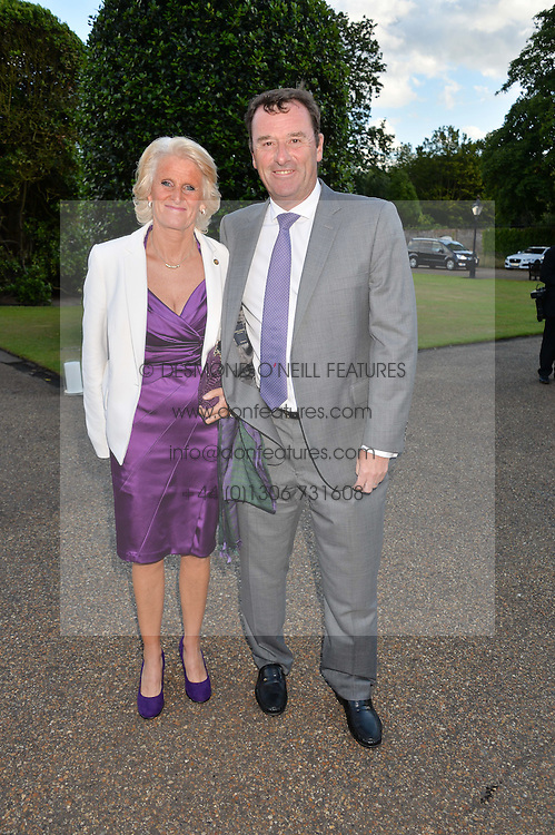 PHILIP & GILL BROOK he is chairman of the All England Lawn Tennis Club at The Ralph Lauren & Vogue Wimbledon Summer Cocktail Party at The Orangery, Kensington Palace, London on 22nd June 2015.  The event is to celebrate ten years of Ralph Lauren as official outfitter to the Championships, Wimbledon.