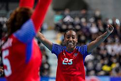 05-12-2019 JAP: Cuba - Slovenia, Kumamoto<br /> Fourth match groep A at 24th IHF Women's Handball World Championship. Slovenia win 39 - 26 of Cuba / Eyatne Rizo Gomez #23 of Cuba