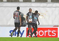 Football - 2021 / 2021 Premier League - Newcastle United vs Burnley - St Jame's Park<br /> <br /> Callum Wilson of Newcastle United celebrates scoring to make it 2-1 to Newcastle<br /> <br /> <br /> COLORSPORT/BRUCE WHITE
