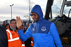 Everton's players arrive at the Hawthorns