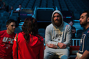 LAS VEGAS, NV - JULY 8:  Travis Browne waits backstage before the UFC 200 weigh-ins at T-Mobile Arena on July 8, 2016 in Las Vegas, Nevada. (Photo by Cooper Neill/Zuffa LLC/Zuffa LLC via Getty Images) *** Local Caption *** Travis Browne