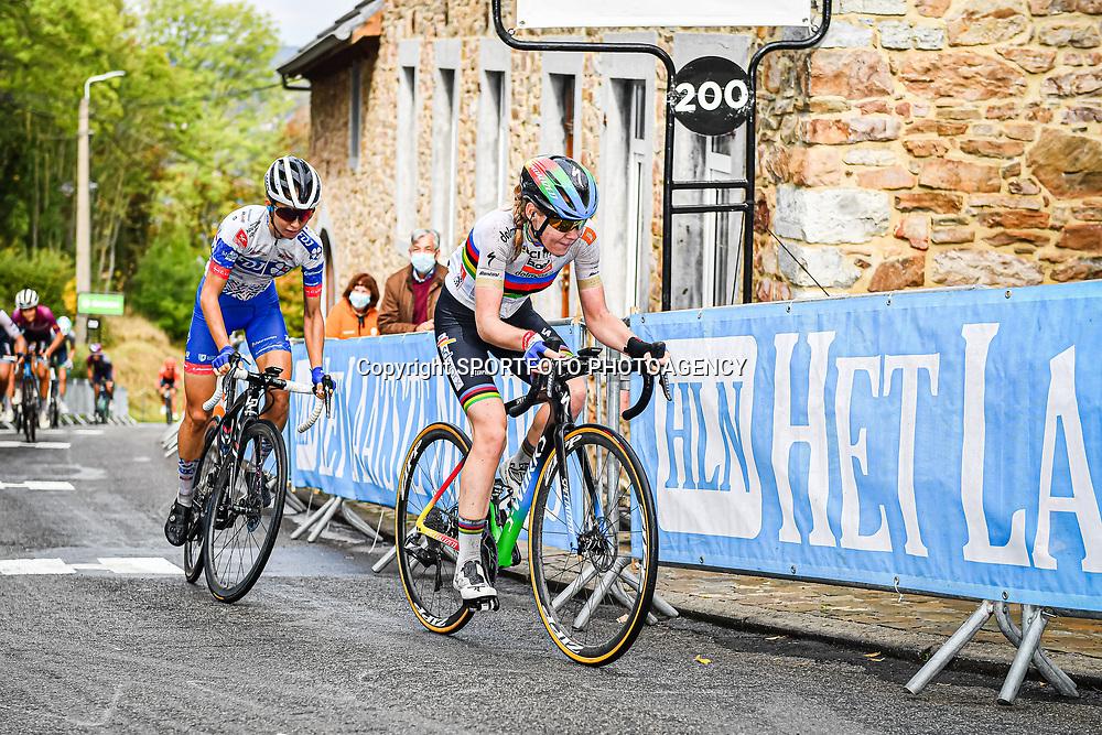 VAN DER BREGGEN Anna ( NED ) – Boels - Dolmans Cycling Team ( DLT ) - NED – LUDWIG Cecilie Uttrup ( DEN ) - FDJ NOUVELLE - AQUITAINE FUTUROSCOPE ( FDJ ) - FRA - VOLLERING Demi ( NED ) - PARKHOTEL VALKENBURG ( PHV ) - NED - Querformat - quer - horizontal - Landscape - Event/Veranstaltung: Flèche Wallonne - Category/Kategorie: Cycling - Road Cycling - Elite Women - Elite Men - Location/Ort: Europe – Belgium - Wallonie - Huy - Start & Finish: Huy - Discipline: Road Cycling - Distance: 202 km - Mens Race - 124 km - Womens Race - Date/Datum: 30.09.2020 – Wednesday - Photographer: © Arne Mill - frontalvision.com30-09-2020: wielrennen: Fleche Walonne; Huy