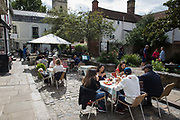 Local residents and visitors enjoy subsidised Bank Holiday Monday lunches on the final day of the government's Eat Out To Help Out meal scheme on 31 August 2020 in Windsor, United Kingdom. Many restaurant owners have called for an extension to the scheme introduced by the Chancellor of the Exchequer to help preserve hospitality jobs during the COVID-19 pandemic.