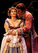 Gaston De Cardenas/El Nuevo Herald -- In a scene from act I of the Florida Grand Opera production of Mozart's Don Giovanni. Giovanni played by Ned Barth tries to seduce the young bride to be Zerlina played by Robin Crouse