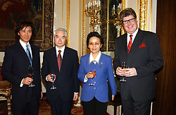 Left to right, ANDY WONG, the Chinesse ambassador to the UK ZHA PEIXIN and his wife and MARTIN WAECHTER Executive Director of Shangri-La Hotels & Resorts  at a fashion show and dinner hosted by Shangri-la Hotels and Resorts and Andy Wong featuring fashion by new designer Lu Kun held at The Goldsmiths Hall, Foster Lane, London on 25th April 2005.<br /><br />NON EXCLUSIVE - WORLD RIGHTS