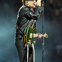 MINNEAPOLIS, MN - JULY 23:  Bono, lead singer of U2, performs at TCF Bank Stadium on July 23, 2011 in Minneapolis, Minnesota. (Photo by Adam Bettcher/Getty Images) *** Local Caption *** Bono
