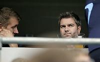 Fotball<br /> UEFA cup<br /> 02.08.07<br /> Ullevaal Stadion<br /> Vålerenga VIF - Flora Tallin<br /> Nylig avgåtte VIF-trener Petter Myhre med administrerende direktør i klubben Pål Breen<br /> Foto - Kasper Wikestad