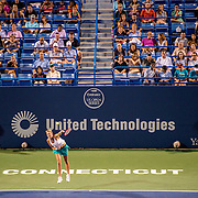 August 24, 2016, New Haven, Connecticut: <br /> Stadium court sponsorship signage during Day 6 of the 2016 Connecticut Open at the Yale University Tennis Center on Wednesday, August  24, 2016 in New Haven, Connecticut. <br /> (Photo by Billie Weiss/Connecticut Open)