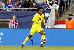 May 15, 2019 - Foxborough, MA, U.S. - FOXBOROUGH, MA - MAY 15: Chelsea FC forward Willian (22) pushes forward during the Final Whistle on Hate match between the New England Revolution and Chelsea Football Club on May 15, 2019, at Gillette Stadium in Foxborough, Massachusetts. (Photo by Fred Kfoury III/Icon Sportswire) (Credit Image: © Fred Kfoury Iii/Icon SMI via ZUMA Press)