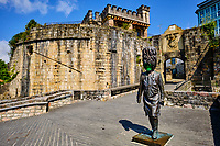 Espagne, Pays Basque, Guipuscoa, Fontarrabie, remparts de la vieille ville, porte de Santa Maria // Spain, Basque Country, Guipuscoa, Hondarribia, ramparts of the old town, Santa Maria door
