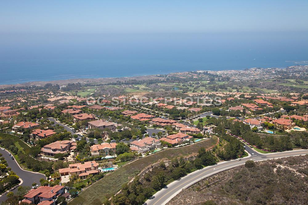 Newport Coast Community off the Coast of California Aerial Photo