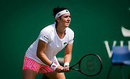 Ons Jabeur of Tunisia in action against Jelena Ostapenko of Latvia during the second round at the 2021 Viking International WTA 500 tennis tournament on June 23, 2021 at Devonshire Park Tennis in Eastbourne, England - Photo Rob Prange / Spain ProSportsImages / DPPI / ProSportsImages / DPPI