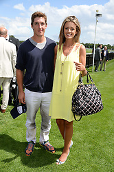 GEORGE MEYRICK and ISABELLA O'DUFFY at the Audi International Polo at Guards Polo Windsor Great Park, Egham, Surrey on 28th July 2013.