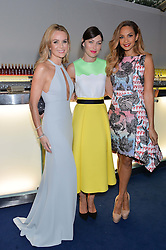 Left to right, AMANDA HOLDEN, EMMA WILLIS and ALESHA DIXON at the Glamour Women of The Year Awards in Association with Next held in Berkeley Square Gardens, Berkeley Square, London on 3rd June 2014.