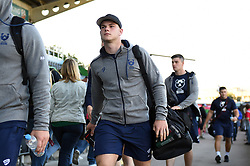 Jack Bates and the rest of the Bristol Bears team arrive at the Stoop - Mandatory byline: Patrick Khachfe/JMP - 07966 386802 - 20/09/2019 - RUGBY UNION - The Twickenham Stoop - London, England - Harlequins v Bristol Bears - Premiership Rugby Cup