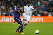 Somalia of TFC and Luiz Gustavo of OM during the French Championship Ligue 1 football match between Olympique de Marseille and Toulouse FC on September 24, 2017 at Orange Velodrome stadium in Marseille, France - Photo Philippe Laurenson / ProSportsImages / DPPI