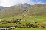 Oberalp Pass is a high mountain pass in the Swiss Alps connecting the cantons of Graubünden and Uri between Disentis and Andermatt, Switzerland, Europe