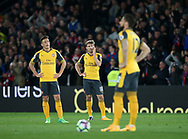 Arsenal's Nacho Monreal looks on dejected after going 2-0 down during the Premier League match at Selhurst Park Stadium, London. Picture date: April 10th, 2017. Pic credit should read: David Klein/Sportimage