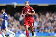 Marc Albrighton of Leicester City looking on. Premier league match, Chelsea v Leicester city at Stamford Bridge in London on Saturday 15th October 2016.<br /> pic by John Patrick Fletcher, Andrew Orchard sports photography.