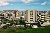 Honolulu Skyline from Punchbowl Crater