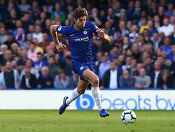 October 20, 2018 - London, England, United Kingdom - London, England - October 20: 2018.Chelsea's Marcos Alonso.during Premier League between Chelsea and Manchester United at Stamford Bridge stadium , London, England on 20 Oct 2018..Credit Action Foto Sport  (Credit Image: © Action Foto Sport/NurPhoto via ZUMA Press)