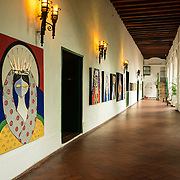 Santuario de San Perdo Claver sanctuary in Plaza de San Pedro Claver, El Centro, Old City, cuidad vieja, Cartagena, Bolivar, Colombia.