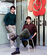 In piedi a sx Federico Longobardi (18) ; seduto a destra Filippo Giannelli Moneta (19). Sede di +Europa a Roma. | From left to right: Filippo Giannelli Moneta (19) and Federico Longobardi (18). +Europa party headquarters in Rome.