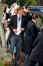 PRINCE WILLIAM at the wedding of Tom Parker Bowles to Sara Buys at St.Nicholas Church, Rotherfield Greys, Oxfordshire on 10th September 2005.<br /><br />NON EXCLUSIVE - WORLD RIGHTS