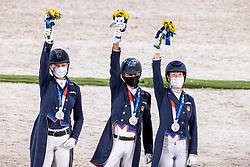 Team USA, Lyle Adrienne, Peters Steffen, Schut-Kery Sabine, <br /> Olympic Games Tokyo 2021<br /> © Hippo Foto - Dirk Caremans<br /> 27/07/2021