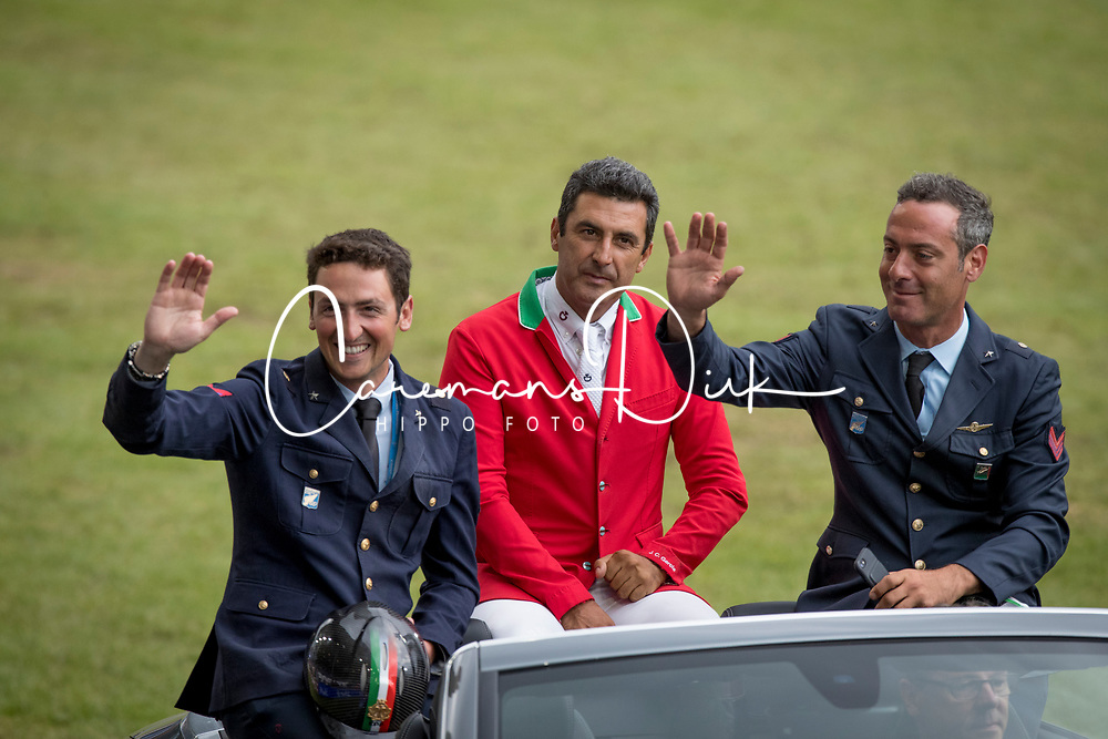 Team Italia, De Luca Lorenzo, Garcia Juan Carlos, Marziani Luca<br /> CHIO Aachen 2017<br /> © Hippo Foto - Dirk Caremans<br /> 20/07/2017