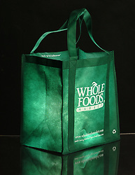 A reusable grocery bag from Whole Foods Market is photographed in Walnut Creek, Calif. on Friday, February 22, 2008. (Kristopher Skinner/ Contra Costa Times/ZUMA Press) (Credit Image: © KRISTOPHER SKINNER/ZUMAPRESS.com)