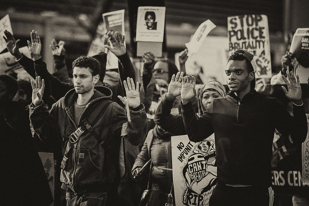 Michael Brown, Eric Garner and alleged police brutality protest and riot on Saturday, Dec. 13, 2014, in Oakland and San Francisco.