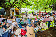 Henham Park, Suffolk, 21 July 2019. The National Youth theatre perform in the Faraway forest. The 2019 Latitude Festival.