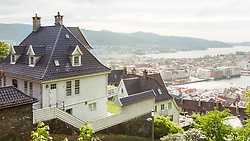 Nordic houses overlooking Bergen, Norway. 15/05/14. Photo by Andrew Tallon