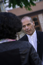 October 1, 2017 - Palermo, Italy - Former Finance Minister Yanis Varoufakis in Palermo to present the Diem25 Pan-European Movement. (Credit Image: © Antonio Melita/Pacific Press via ZUMA Wire)