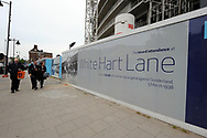 A general view outside the White Hart Lane stadium with the old and new part of the stadium. Premier League match at the White Hart Lane Stadium, London. Picture date: April 30th, 2017.Pic credit should read: Robin Parker/Sportimage
