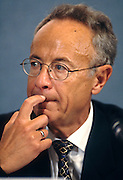 CEO of Intel Corporation Andrew Grove during a technology event at the National Press Club June 4, 1997 in Washington, DC.