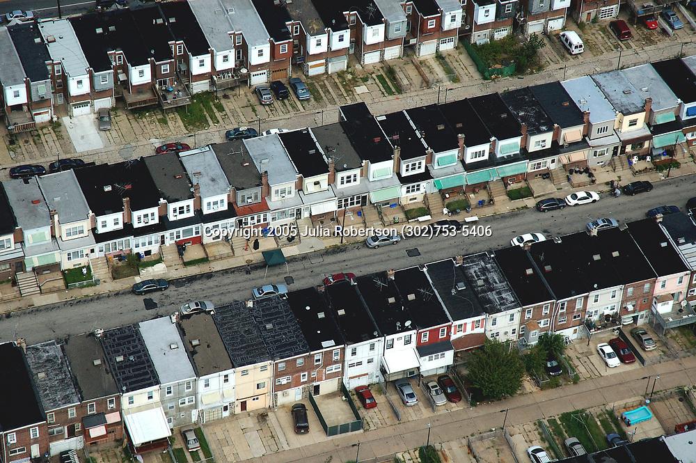 Aerial of South Philadelphia townhouses