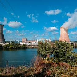 The Three Mile Island Nuclear Plant at the Susquehanna River near Middletown, Pennsylvania.