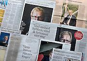 Nederland, Nijmegen, 28-6-2014Collage van artikelen in verschillende landelijke dagbladen van interviews met de nieuwe voorzitter van VNO NCW, Hans de Boer die uitgesproken denkbeelden etaleert.Foto: Flip Franssen/Hollandse Hoogte