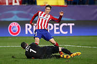 Atletico de Madrid´s Fernando Torres misses a goal chance during Champions League soccer match between Atletico de Madrid and FC Astana at Vicente Calderon stadium in Madrid, Spain. October 21, 2015. (ALTERPHOTOS/Victor Blanco)