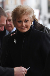 Angela Rippon arriving at the Grosvenor Chapel in London's Mayfair for a memorial service to commemorate the life of Raine Spencer, the stepmother of Diana, Princess of Wales, who died last month aged 87 after a short illness.