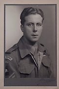Mcc0061427 . Daily Telegraph<br /> <br /> Telegraph Magazine<br /> <br /> D Day Veterans<br /> <br /> Geoffrey Pattinson who served with the 9th Parachute Battalion, 6th Airborne Division . <br /> <br /> London 8 April 2015