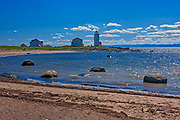 L'Isle-Verte  Lighthouse along the St. Lawrence River<br />Island of L'Isle-Verte <br />Quebec<br />Canada